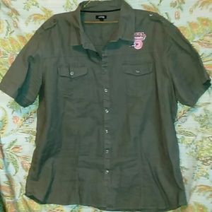 APT 9 ARMY GREEN SHIRT
